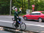 Rado Hanak auf dem E-Bike